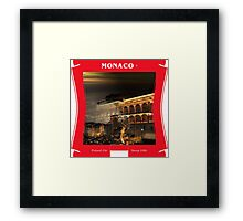Monaco - Poised On Steep Hills Framed Print