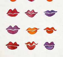 Watercolor Kisses by Cat Coquillette