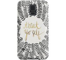 Treat Yo Self – Gold & Grey Samsung Galaxy Case/Skin