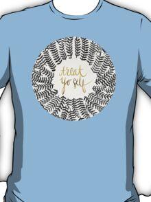Treat Yo Self – Gold & Grey T-Shirt