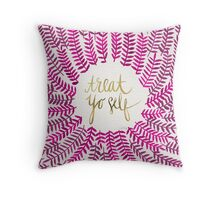 Treat Yo Self – Gold & Pink Throw Pillow