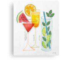 Summer Cocktail Trio Metal Print