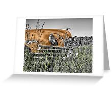 Car in the Past Greeting Card