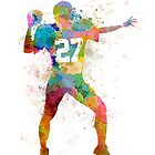 quarterback american throwing football player man by paulrommer