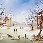 Winter Landscape by Jeno Futo