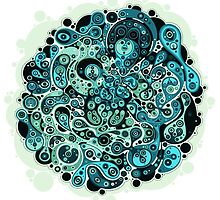 Abstract Hipster Blue/Green Design by RhinoEdits