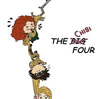 The Chibi Four by aelita15
