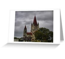 Pointing Up in Vienna  Greeting Card