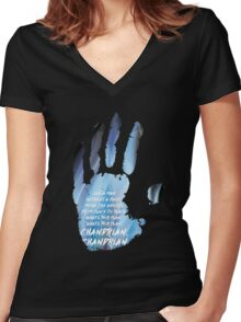 near and far. here they are. Women's Fitted V-Neck T-Shirt