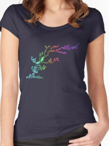 Rainbow Bubble Tree Women's Fitted Scoop T-Shirt