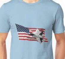 US Flag With Raptor Unisex T-Shirt
