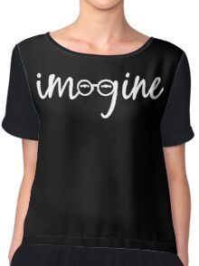 Imagine - John Lennon Tribute Artwork - John's Glasses Chiffon Top