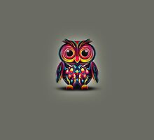 Cute Owl Abstract Animal Design by RhinoEdits
