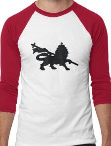 rasta lion judah dub Men's Baseball ¾ T-Shirt