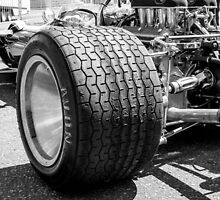 Vintage racing car tire by bms-photo