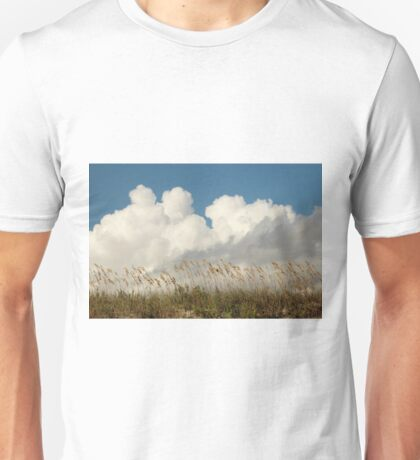 Clouds Over Beach Weeds Unisex T-Shirt