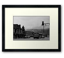 Jasper City Bus Framed Print