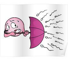 Egg cell with umbrella Poster