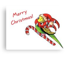 Christmas Keet Canvas Print