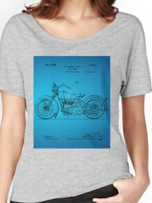 Motorcycle Patent 1925 - Blue Women's Relaxed Fit T-Shirt