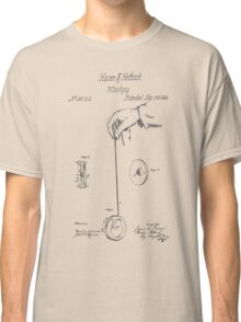 Vintage Yoyo Patent Drawing From 1866 Classic T-Shirt