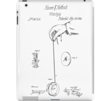Vintage Yoyo Patent Drawing From 1866 iPad Case/Skin