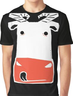 WHITE COW Graphic T-Shirt