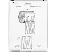 Toilet Paper Roll Patent 1891 iPad Case/Skin