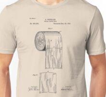 Toilet Paper Roll Patent 1891 Unisex T-Shirt