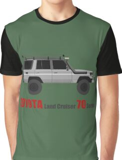 TOYOTA Land Cruiser 70 Series HZJ77 (Custom)  (machito) Graphic T-Shirt