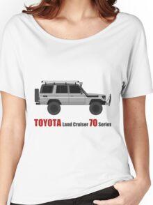 TOYOTA Land Cruiser 70 Series HZJ77 (Custom)  (machito) Women's Relaxed Fit T-Shirt