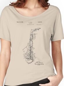 Saxophone Patent Drawing From 1933 Women's Relaxed Fit T-Shirt