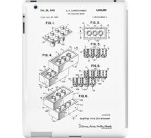 Lego Toy Building Brick Patent  iPad Case/Skin
