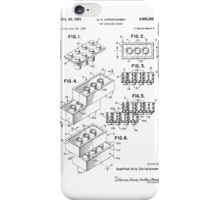 Lego Toy Building Brick Patent  iPhone Case/Skin