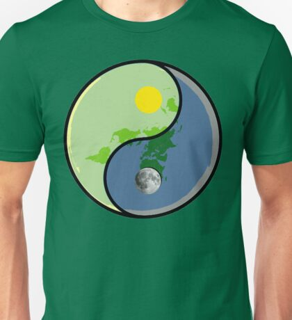 Flat Earth YIN Sun YANG Moon Unisex T-Shirt