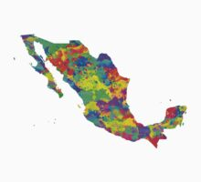 Mexico Watercolor Map by chris2766