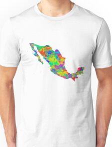 Mexico Watercolor Map Unisex T-Shirt
