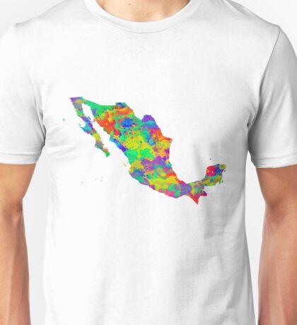 Mexico Watercolor Map Unisex T-Shirt