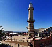 Lighthouse & Tea Pot in Warnemünde - Baltic Sea by Holger Mader