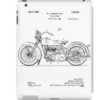 Harley Davidson Motorcycle Patent 1925 iPad Case/Skin
