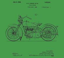 Motorcycle Patent 1925 Baby Tee