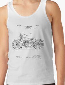 Motorcycle Patent 1925 Tank Top