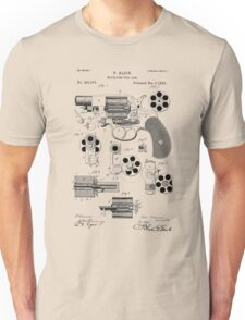 Revolving Fire Arm Patent 1881 Unisex T-Shirt