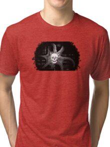 Digital Octopus Skull Tri-blend T-Shirt