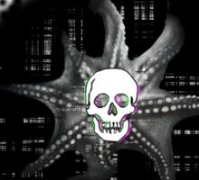 Digital Octopus Skull Sticker