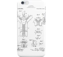 Zipper Patent Art  iPhone Case/Skin