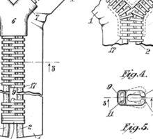 Zipper Patent Art  Sticker