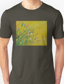 Field Flowers on Yellow T-Shirt
