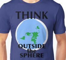 FLAT EARTH THINKING Unisex T-Shirt