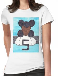 Lucky Number 5 Womens Fitted T-Shirt